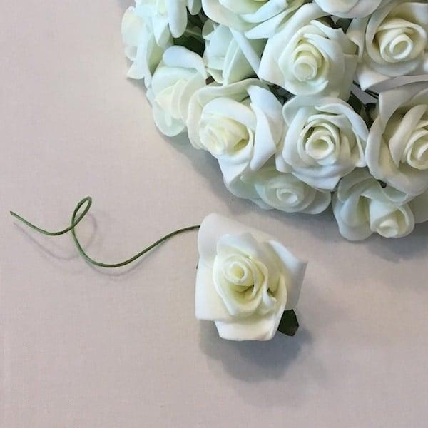 Hvid lille skumrose