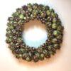Håndlavet olivengrøn krans