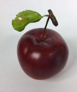 Kunstig æble med blad