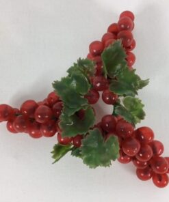 Lyskrans med røde druer