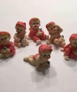Lyserøde baby figurer