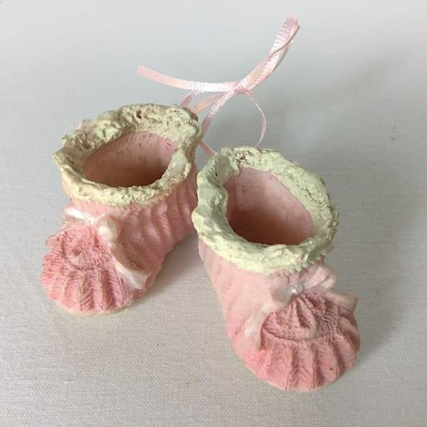 Lyserøde baby porcelæns sko