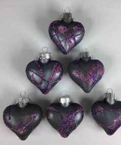Glashjerter med lilla glimmer