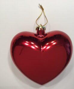 Stort hjerte blank rød