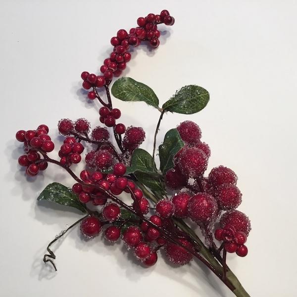 Rød dekorativ bærgren