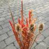 Tørrede blomsterbuket med tidsler