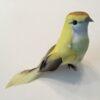 Dekorativ gul fugl