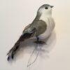 Dekorativ grå fugl