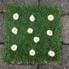 Græsmåtte med lyse blomster