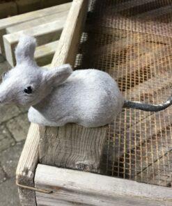 Naturtro grå mus