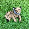 Tiger der ligger ned