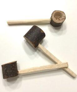 Træ pibe i mini størrelse