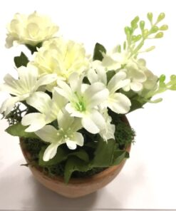 Blandet blomster hvide farver