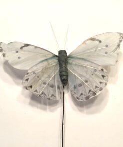 Sart grå dekorativ sommerfugl på tråd