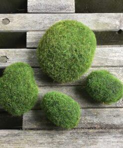 Grønne kunstige pudemos kugler