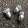 Lille naturtro sølv agern